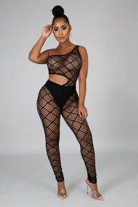 Seductive Net Jumpsuit