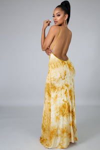 Color Dye Maxi Dress | GitiOnline