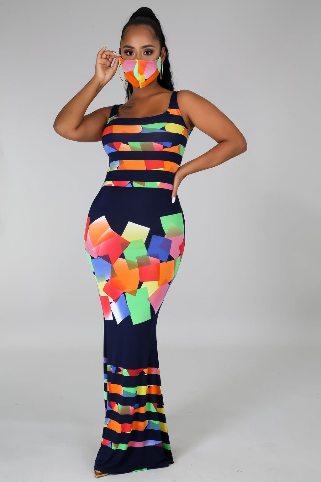 2pc Art Appreciation Dress Set