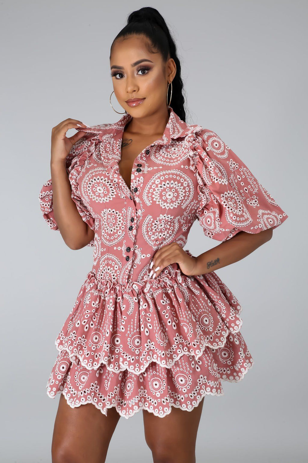 Melanie Embroidered Dress