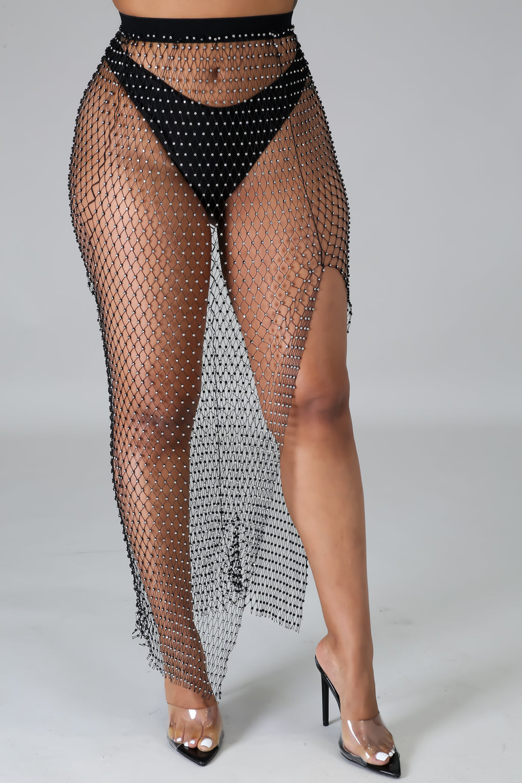 Diamond Skirt Net Cover Up