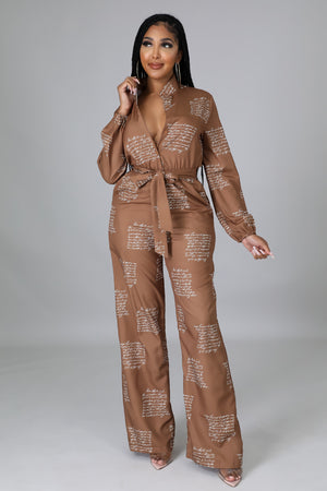It's The Army Way Jumpsuit Set