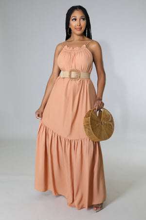 On The Go Knit Midi Dress