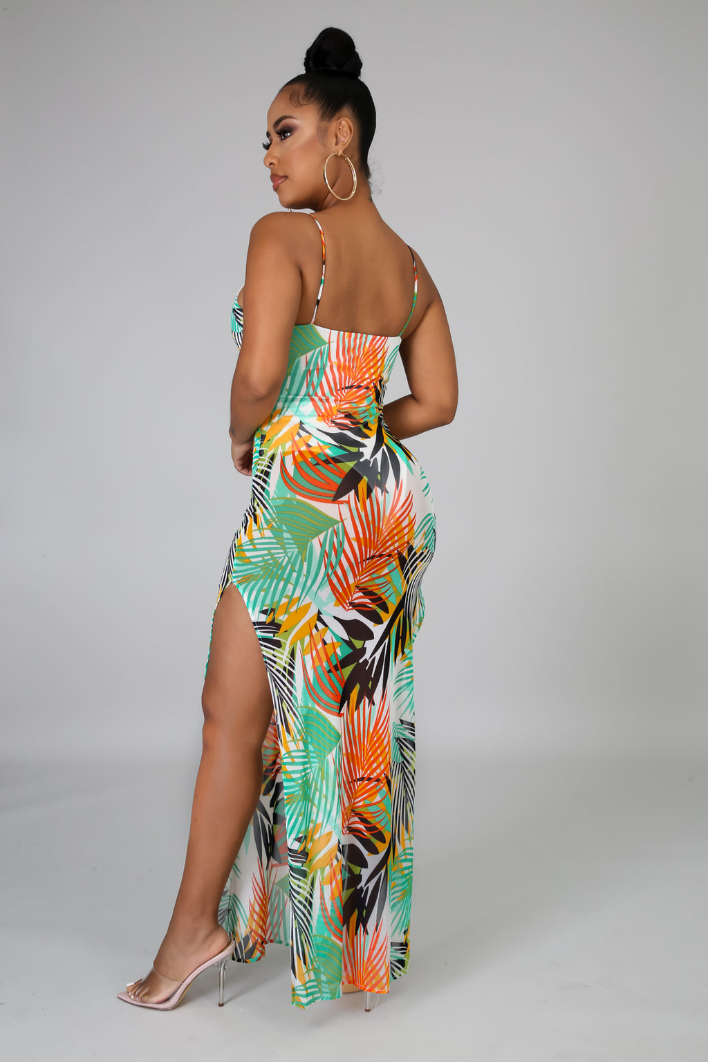 Tropical leaves Dress | GitiOnline