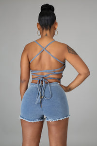 Laced Up Romper