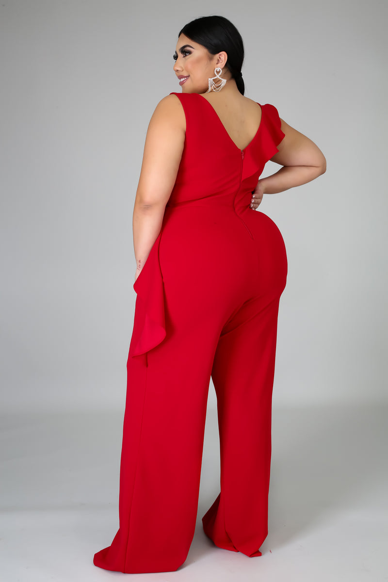 Down The Line Flare Jumpsuit | GitiOnline