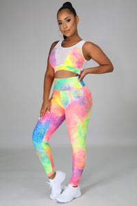 Color Explosion Legging Set