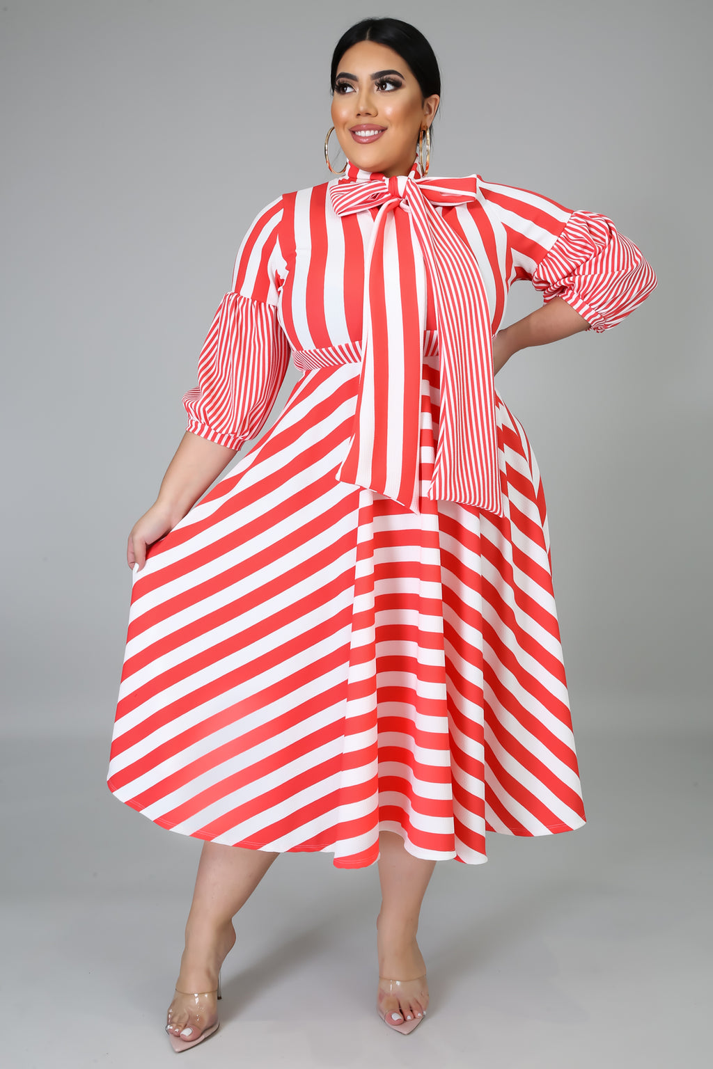 Stripe Down Dress | GitiOnline