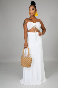Scallop Maxi Skirt Set