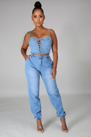 Funday Denim Pant Set