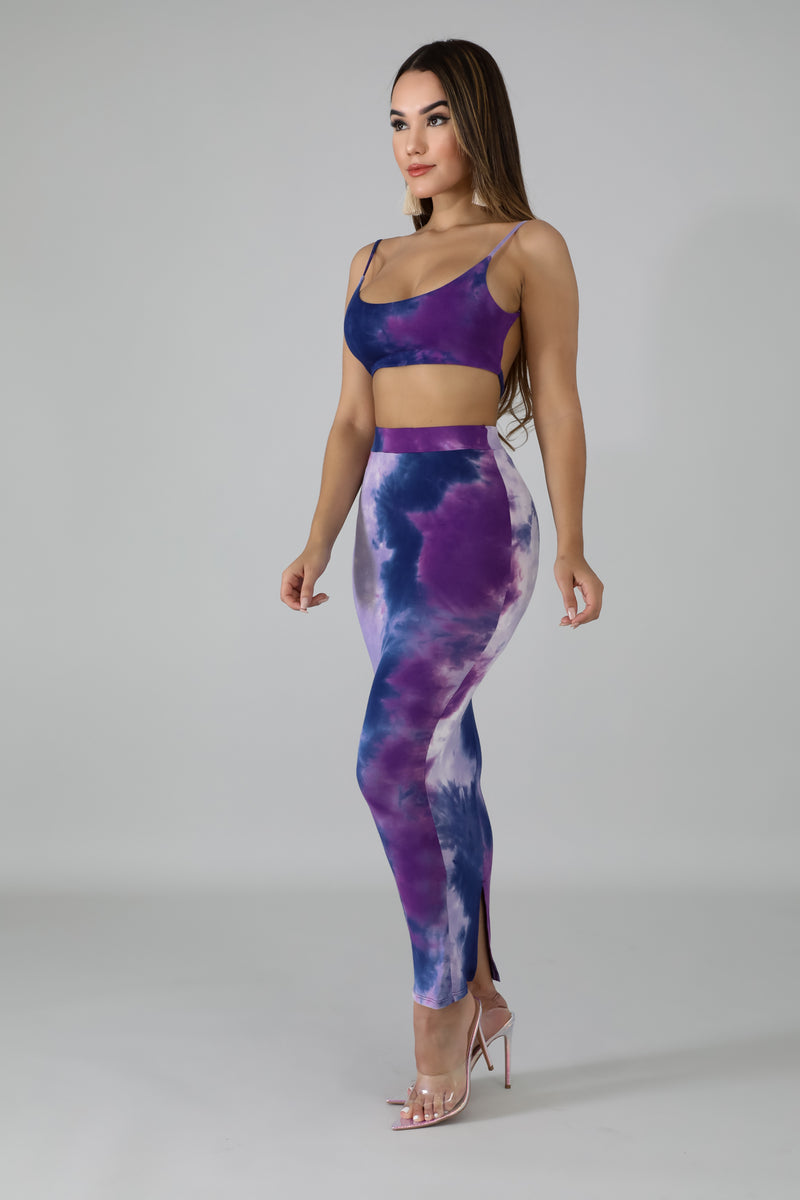 Feisty Tie Dye Skirt Set