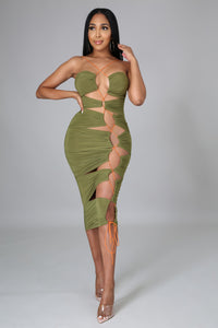 Olive Green Babe Dress
