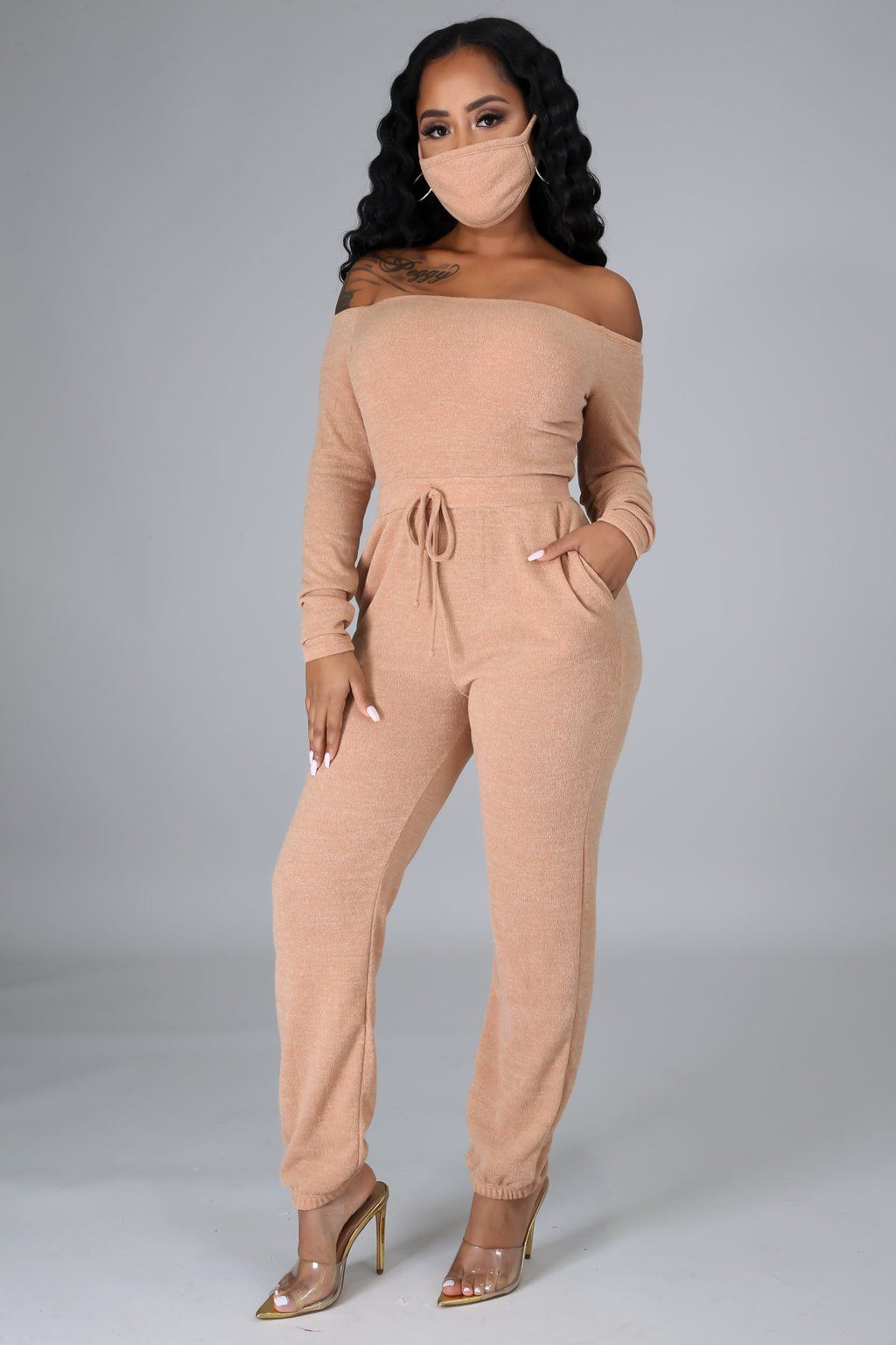 2pc Sweet Love Jumpsuit Set