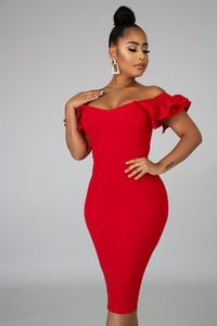 Queen Pleats Body-Con Dress