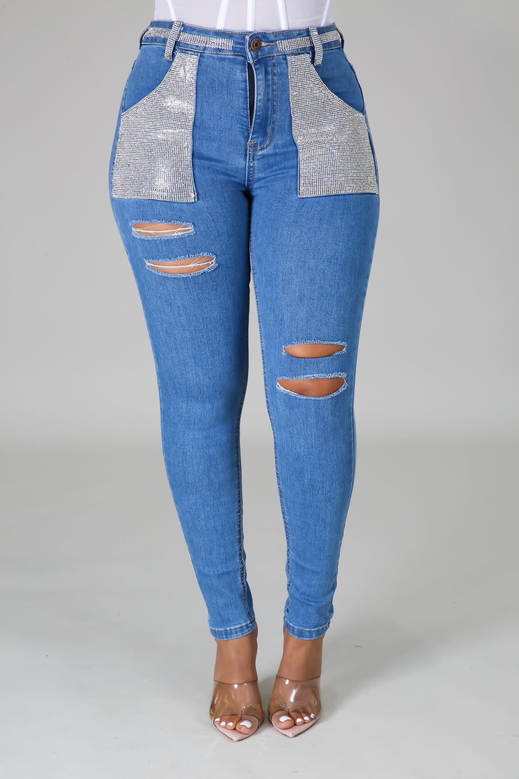 Shine Like Me Denim Pants