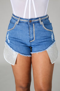 Glitz Denim Shorts