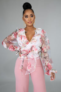 Rosy Wrap Blouse | GitiOnline