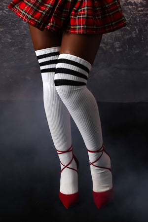 Athletic Ribbed Thigh Highs | GitiOnline
