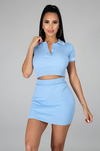 College Life Skirt Set