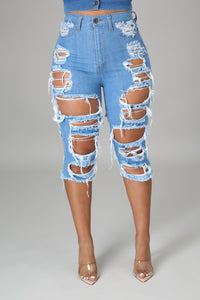 Distressed Out Shorts