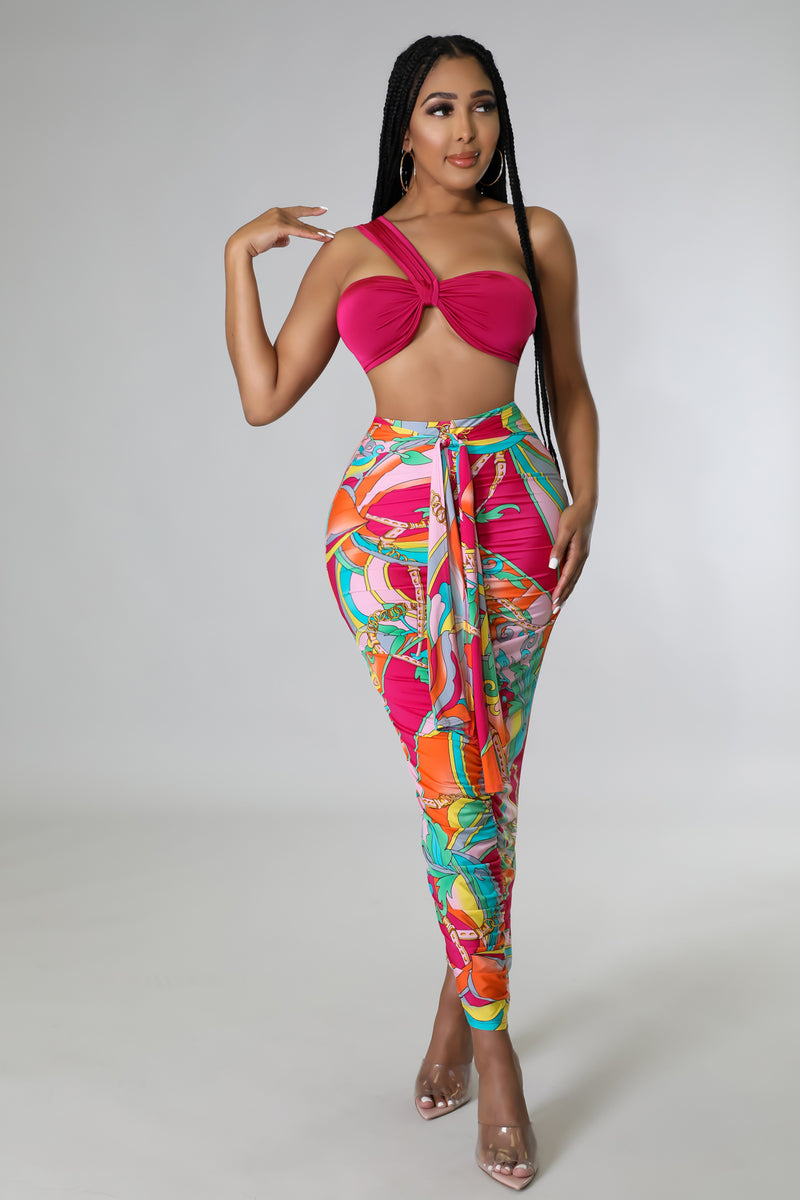 Neon Flor Bow Jumpsuit | GitiOnline