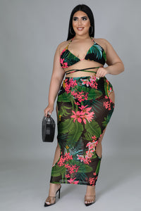 Floral Jersey Maxi Dress | GitiOnline