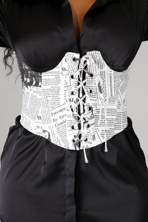 Making The News Bustier Belt
