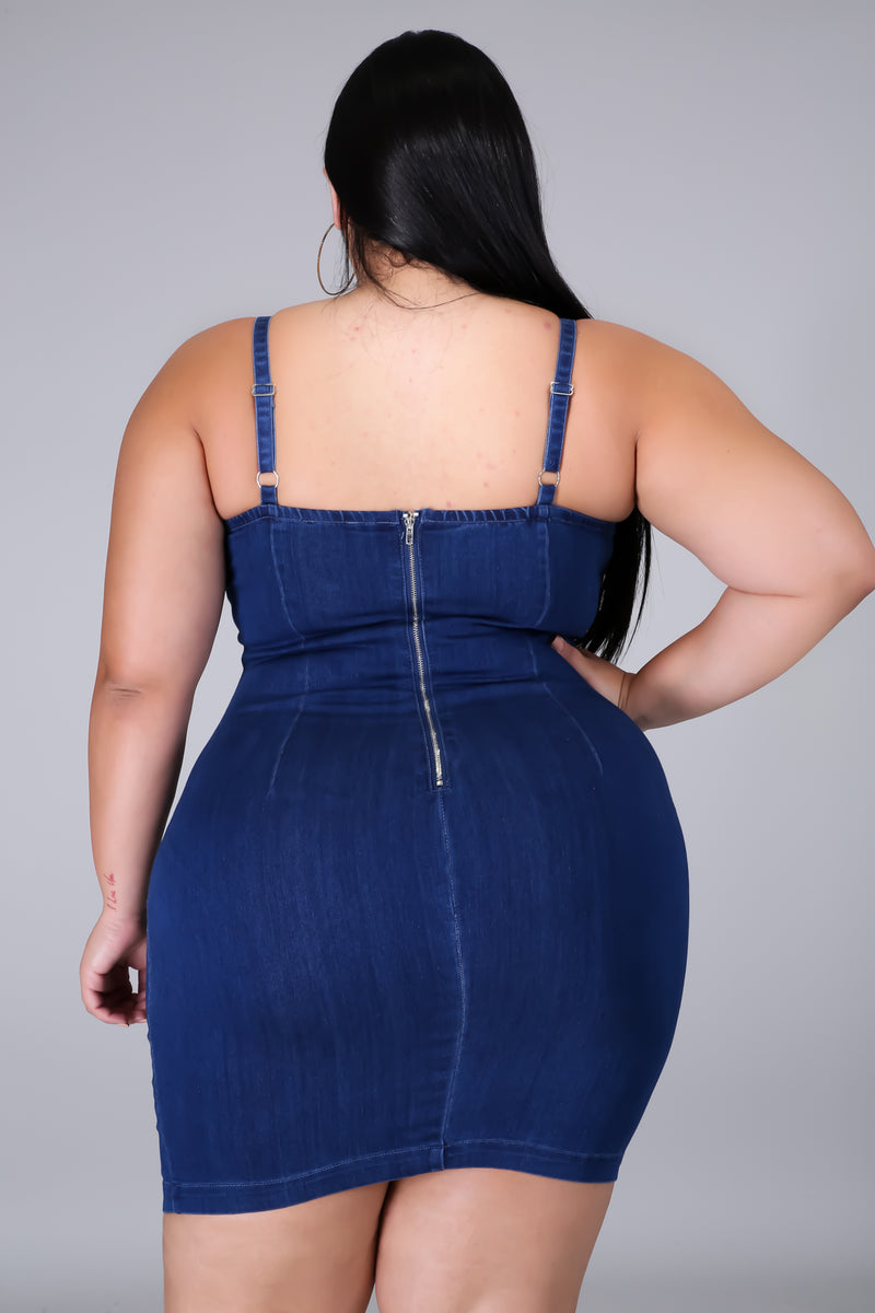 Hard To Forget Denim Dress