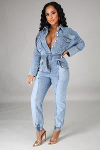 All That Denim Jumpsuit