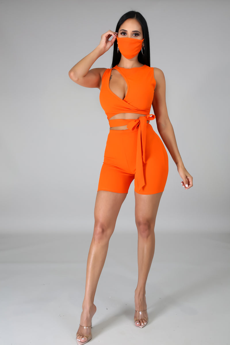 Catch This Angle Romper Set