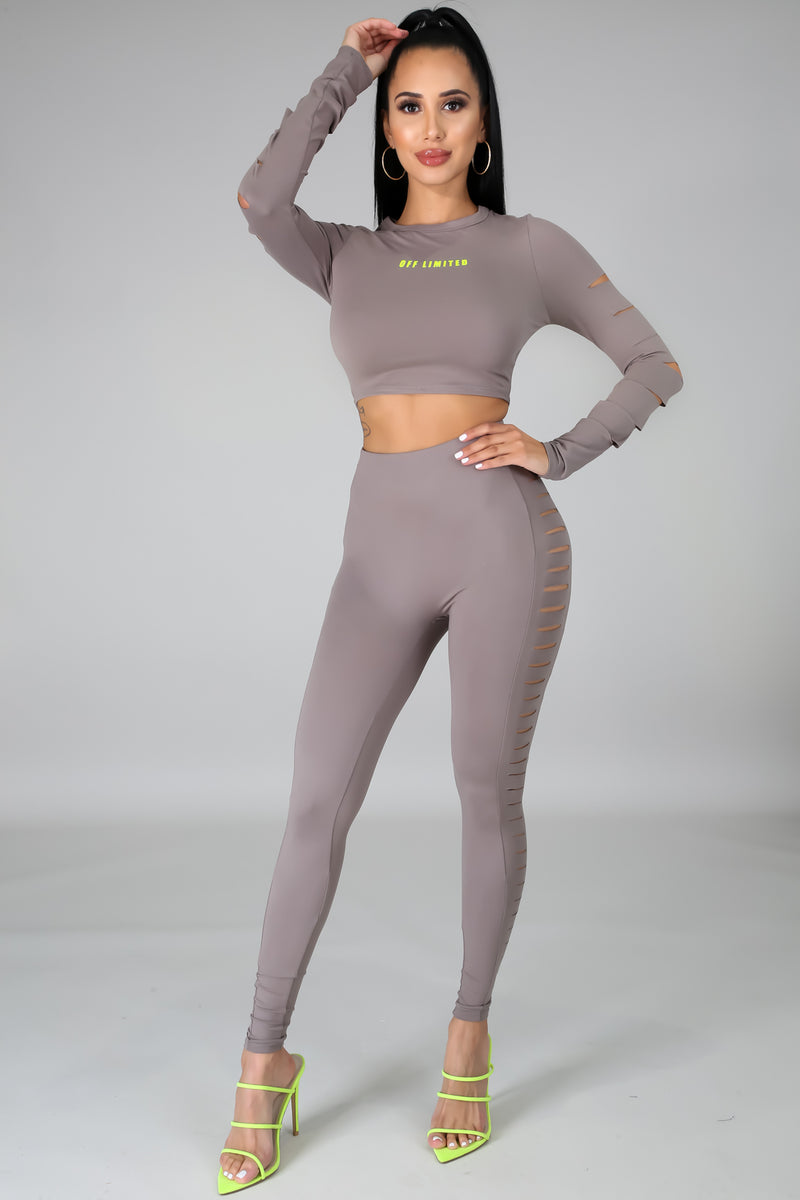 Off Limited Legging Set