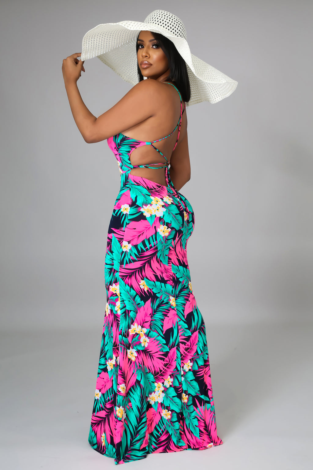 Flirty Florals Maxi Dress