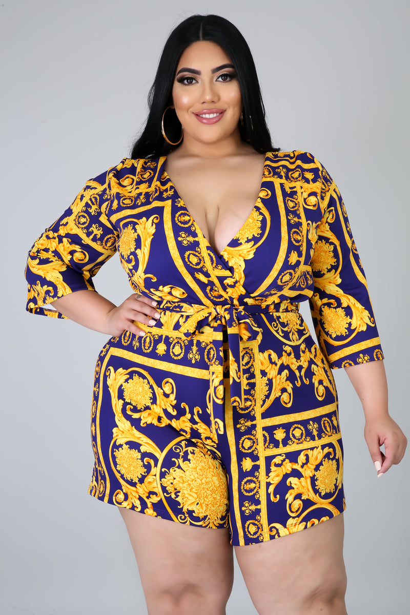 To Royal For You Romper