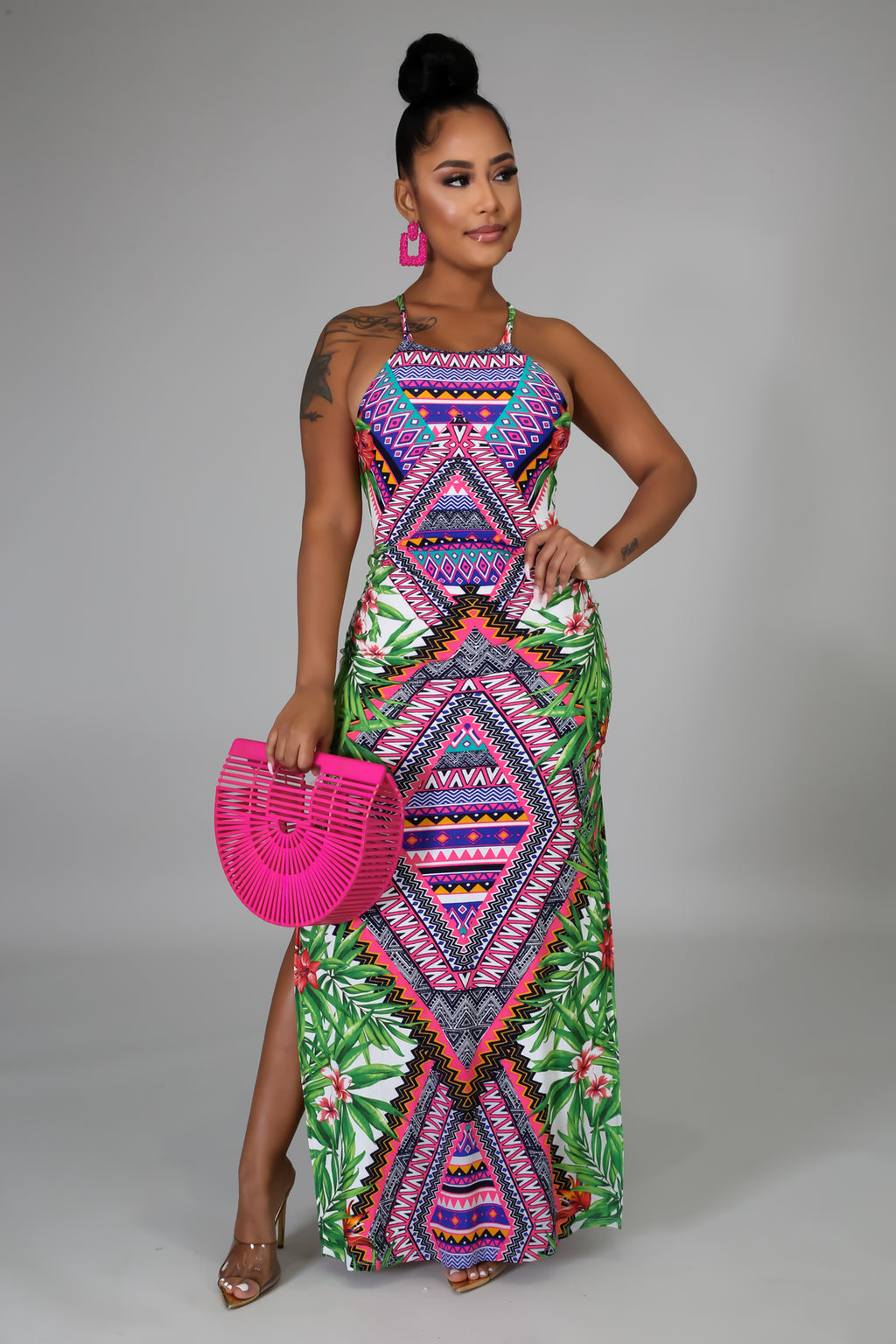 Tropical Aztec Dress
