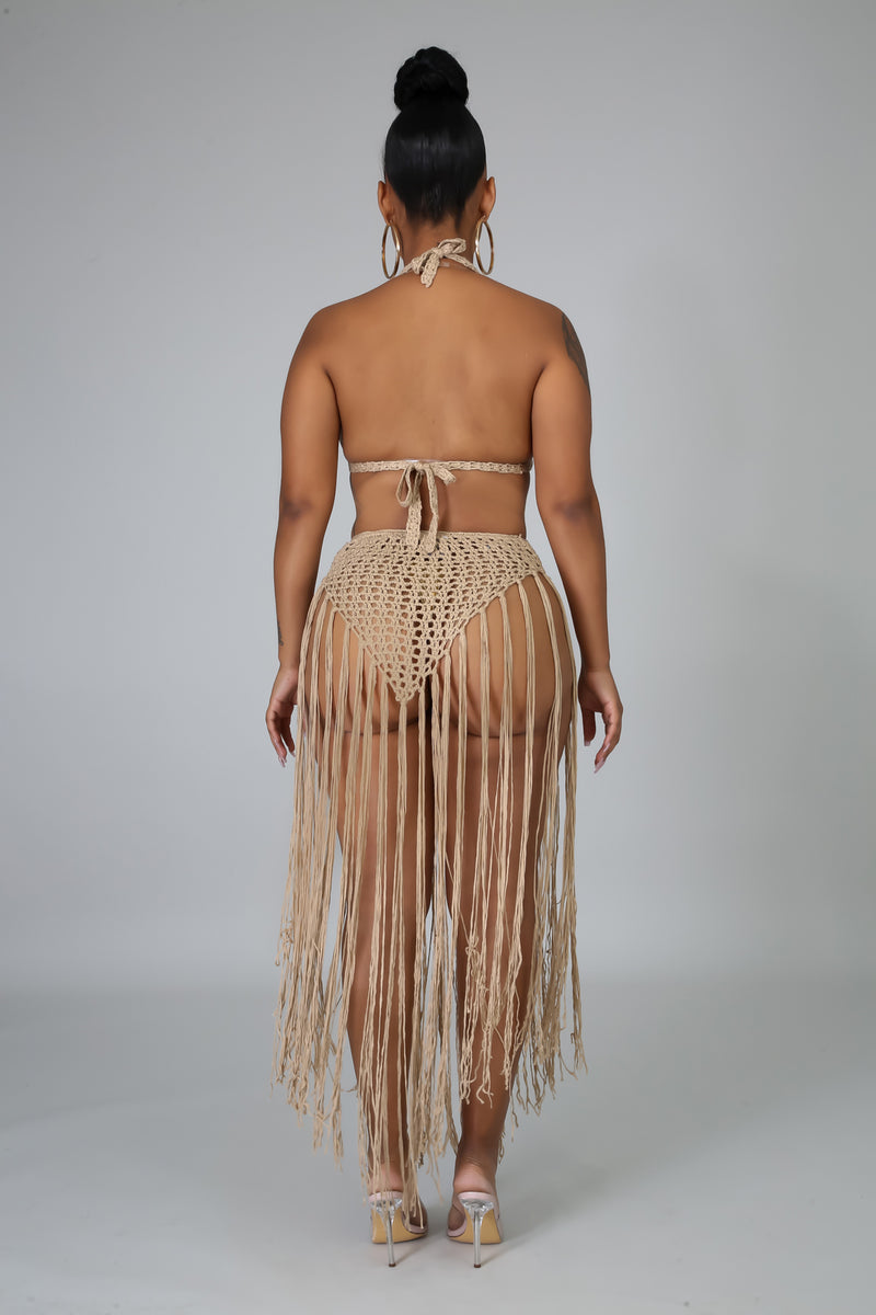 Crochet Fringe Cover Up