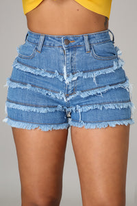 Layered Up Denim Shorts
