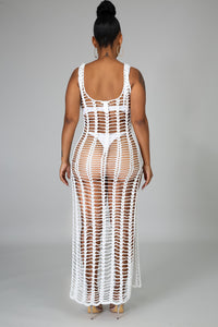 Knit Net Cover Up Dress