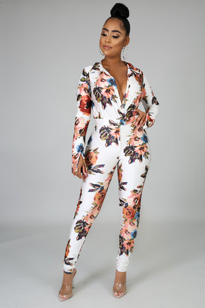 Floral Escape Bodysuit Set