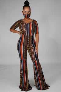 Pattern Fever Jumpsuit Set
