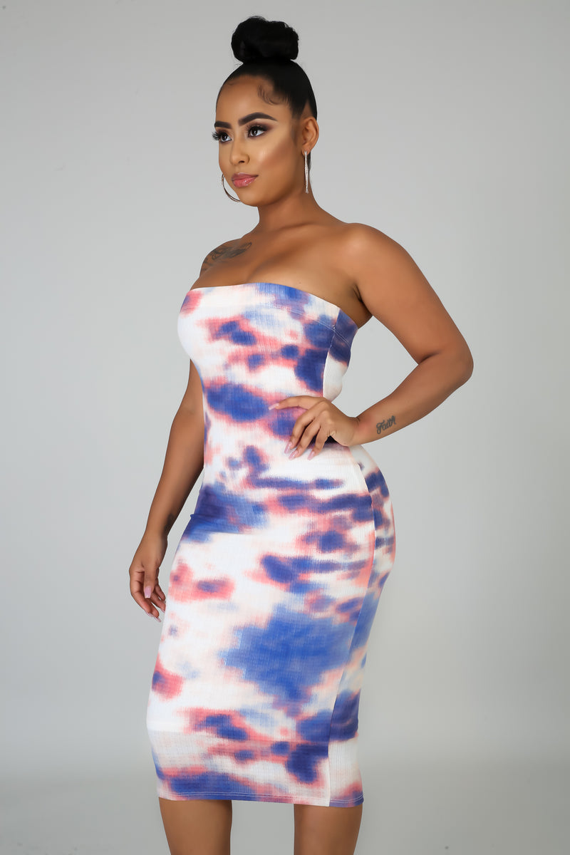 Sunset Vibe Tube Dress
