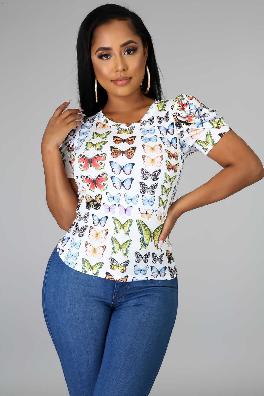 Take A Snapshot Butterfly Top