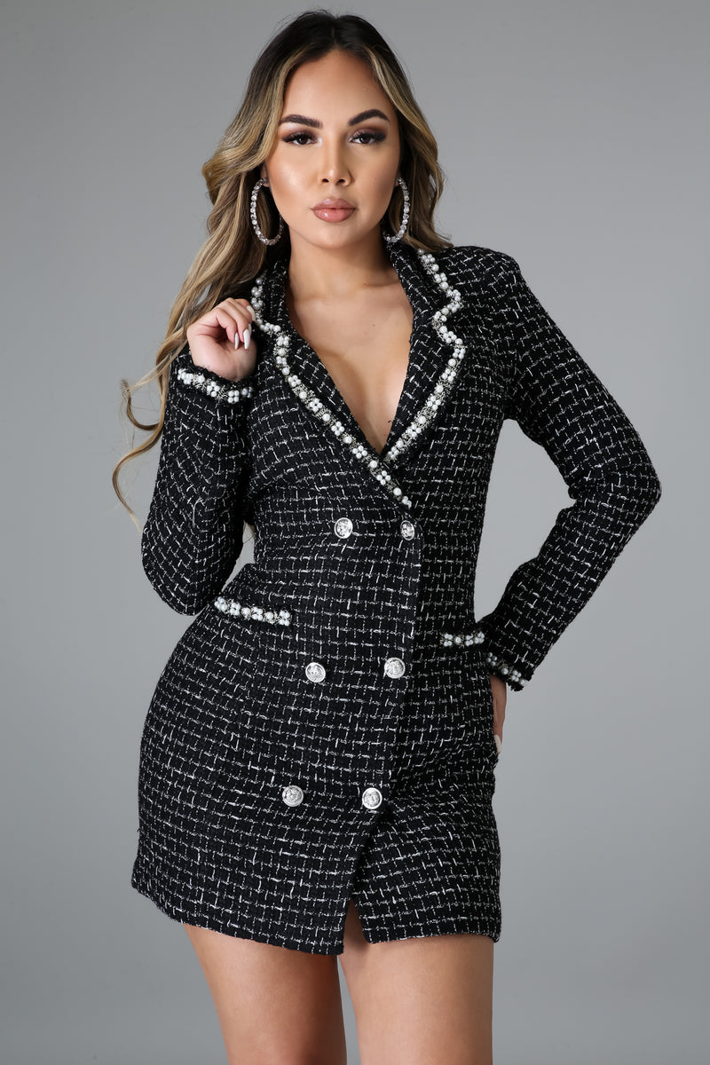 She's Bossy Blazer Dress