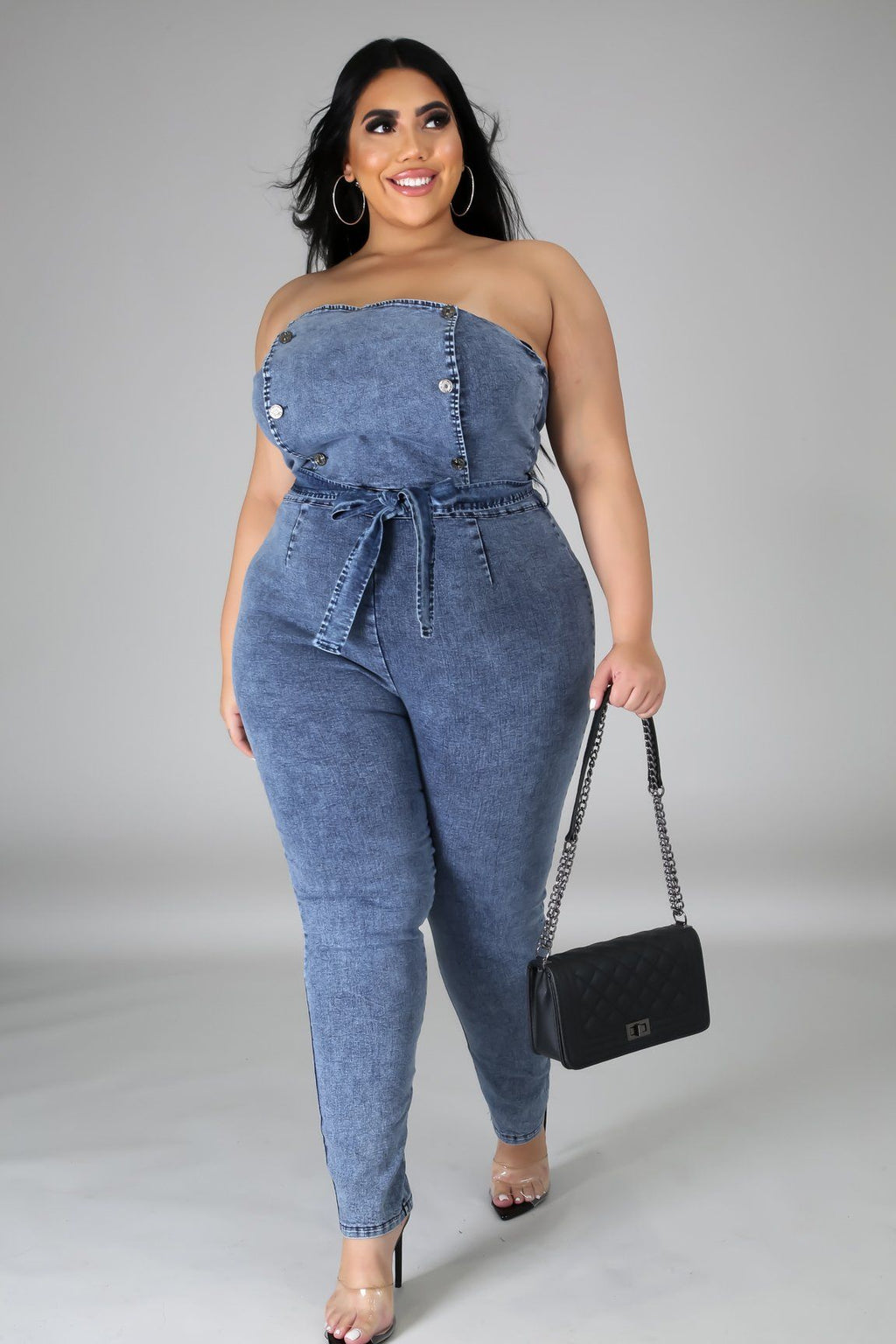 Nothing To Lose Denim Jumpsuit