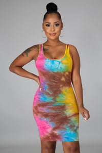 Sugar Frenzy Tie Dye Dress