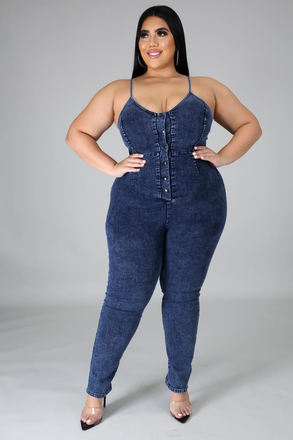 Stick To The Basic Denim Jumpsuit