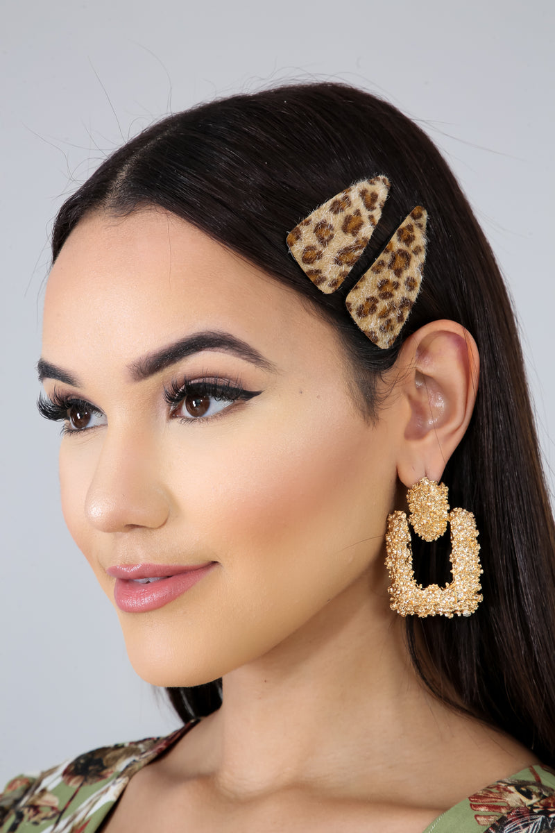 Cheetah Fur Clips | GitiOnline