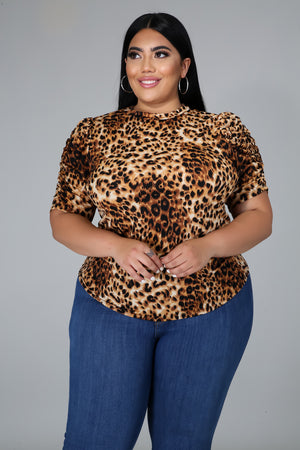 A Leopard Moment Top