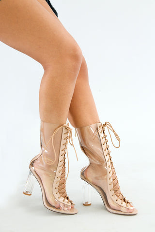 Pearl Spiral Open Toe Stiletto Heel