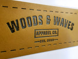 Woods & Waves leather patch
