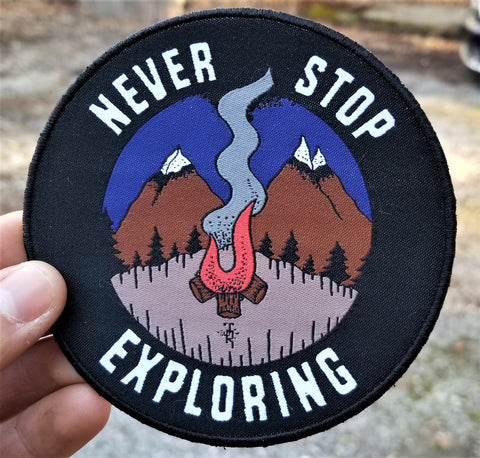 Never Stop Exploring patch
